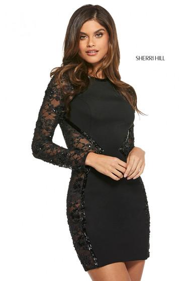 Rochie Sherri Hill 53190 black