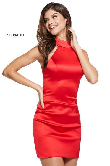 Rochie Sherri Hill 53198 red