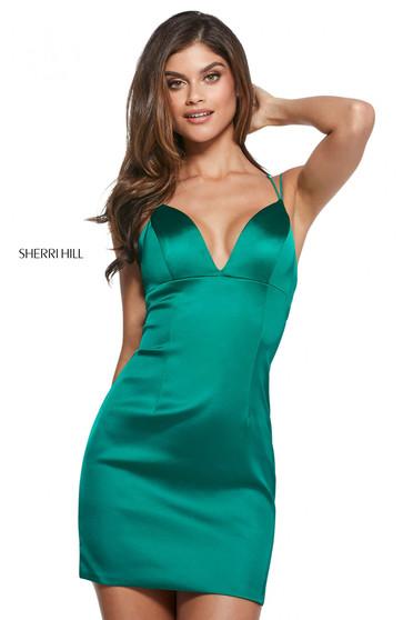 Rochie Sherri Hill 53200 emerald