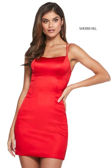 Rochie Sherri Hill 53201 red