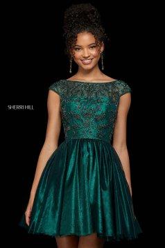 Rochie Sherri Hill 53206 emerald