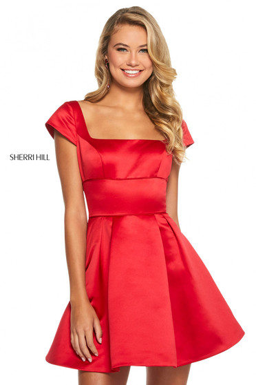 Rochie Sherri Hill 53210 red
