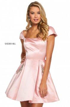 Rochie Sherri Hill 53211 blush