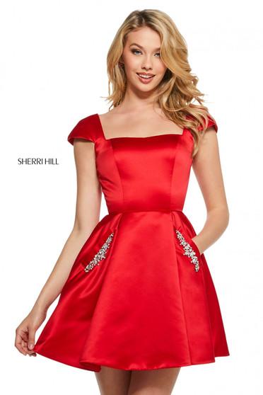 Rochie Sherri Hill 53211 red