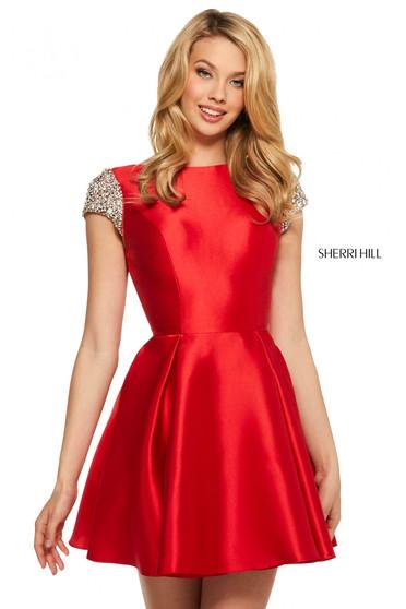 Rochie Sherri Hill 53220 red