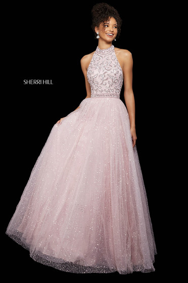 Rochie Sherri Hill 53228 light pink