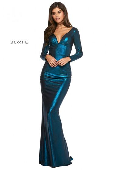 Rochie Sherri Hill 53240 black/teal