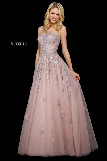Rochie Sherri Hill 53248 blush