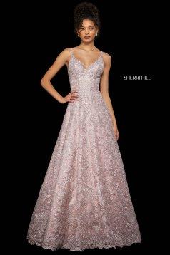 Rochie Sherri Hill 53250 rose gold