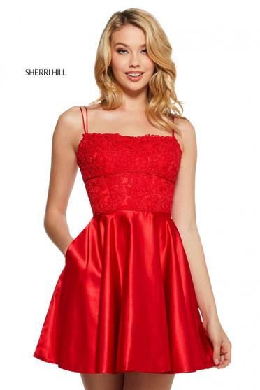 Rochie Sherri Hill 53258 red