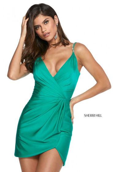 Rochie Sherri Hill 53266 emerald