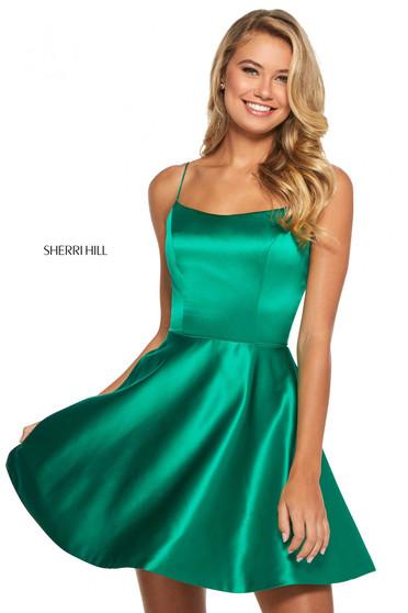 Rochie Sherri Hill 53267 emerald