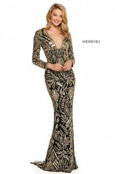 Rochie Sherri Hill 53270 black/gold