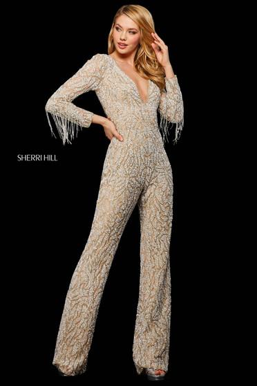 Rochie Sherri Hill 53277 nude/silver