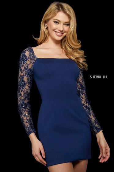 Rochie Sherri Hill 53278 navy