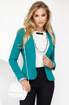 Dirty green office tented jacket slightly elastic fabric with inside lining with padded shoulders