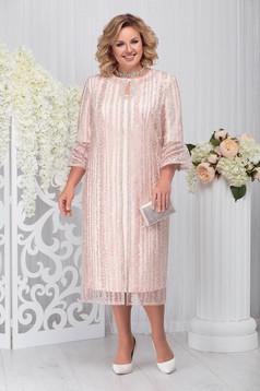 Lightpink elegant 2 pieces lady set with dress