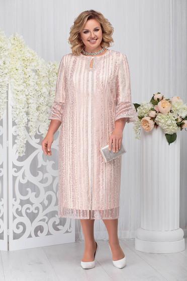 Compleu roz prafuit elegant din 2 piese cu rochie