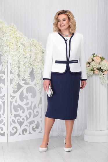 Compleu albastru-inchis elegant din 2 piese cu rochie