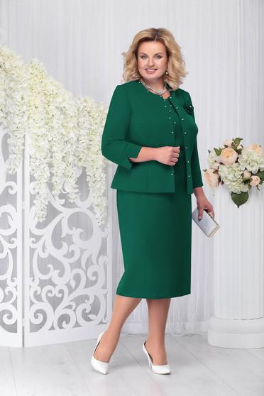 Compleu verde elegant din 2 piese cu rochie