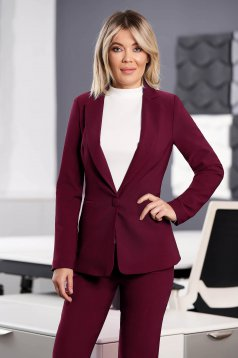 StarShinerS raspberry jacket with inside lining office from non elastic fabric arched cut