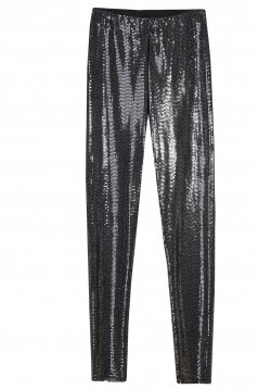 Black tights long medium waist with elastic waist with sequins