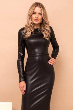 Black dress long sleeve midi