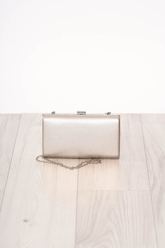 Bag silver occasional long chain handle buckle accessory ecological leather