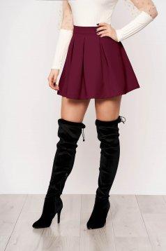 Raspberry casual cloche skirt slightly elastic fabric medium waist