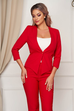 Jacket office tented StarShinerS red cloth thin fabric asymmetrical