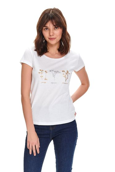 Tricou Top Secret S047746 Alb