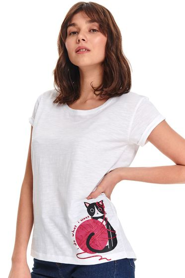 Tricou Top Secret S047747 Alb