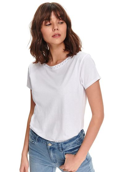 Tricou Top Secret S047798 Alb