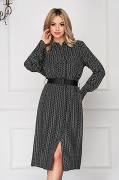 Black dress daily midi cloche long sleeved