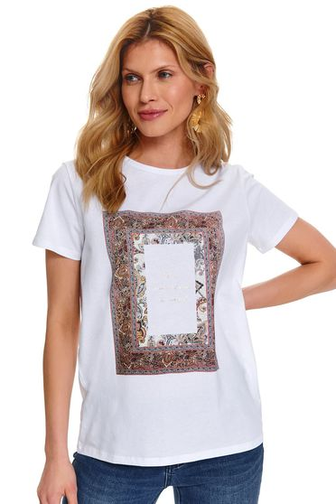 Tricou Top Secret S047906 Alb