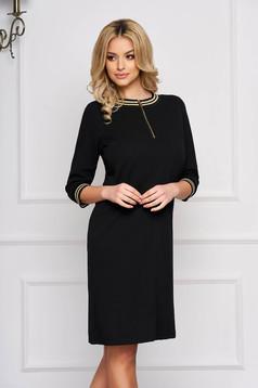 StarShinerS black dress a-line cloth zipper accessory short cut elegant