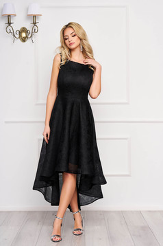 StarShinerS black occasional asymmetrical sleeveless cloche dress