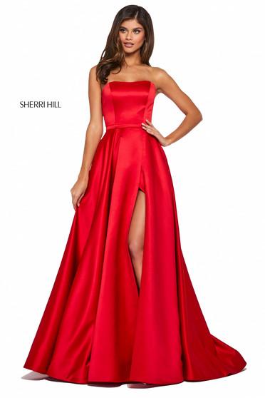 Rochie Sherri Hill 53307 red