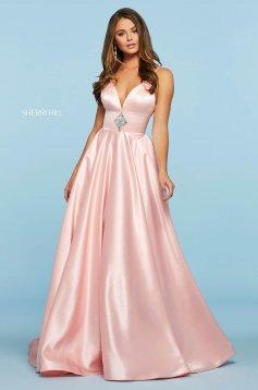 Rochie Sherri Hill 53312 blush