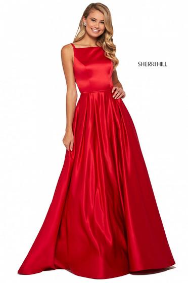 Rochie Sherri Hill 53316 red