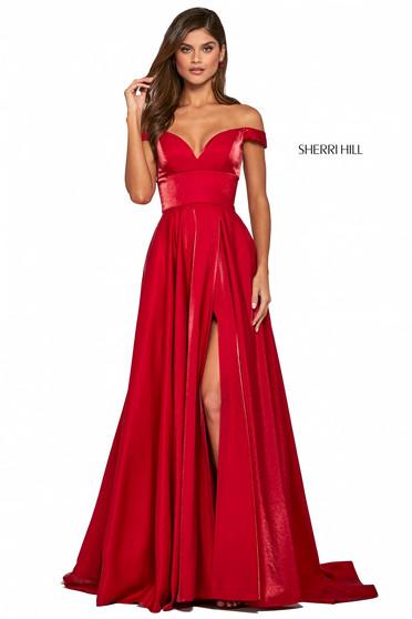 Rochie Sherri Hill 53324 red