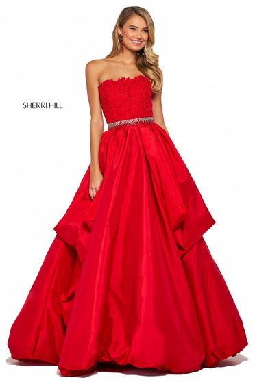 Rochie Sherri Hill 53339 red