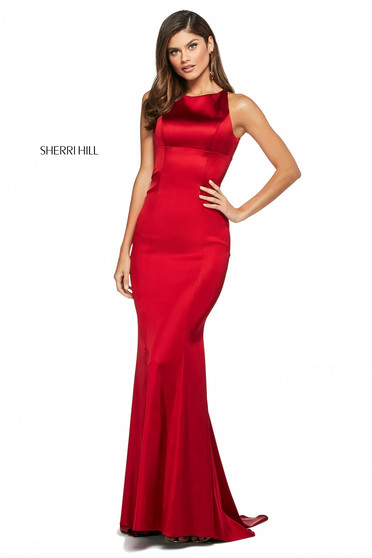 Rochie Sherri Hill 53392 red