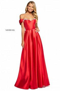 Rochie Sherri Hill 53399 coral