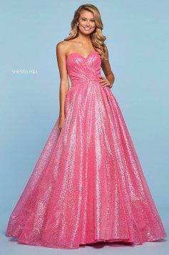 Rochie Sherri Hill 53419 candy pink