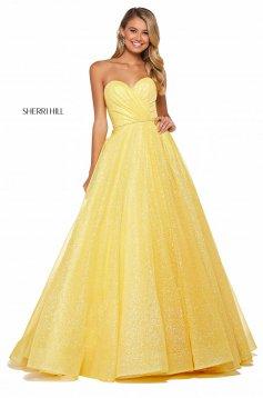 Rochie Sherri Hill 53419 yellow