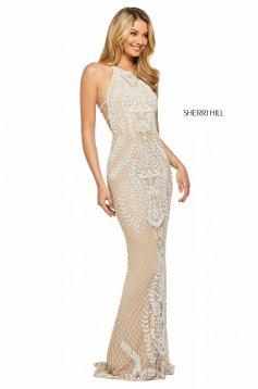 Rochie Sherri Hill 53439 ivory