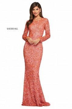 Rochie Sherri Hill 53447 coral