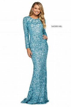 Rochie Sherri Hill 53447 emerald