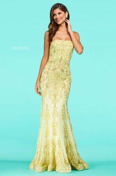 Rochie Sherri Hill 53452 yellow
